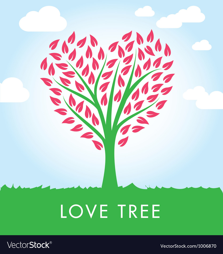 Tree heart shape vector | Price: 1 Credit (USD $1)