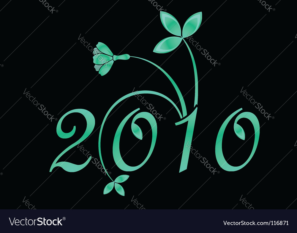 2010 year sign vector | Price: 1 Credit (USD $1)