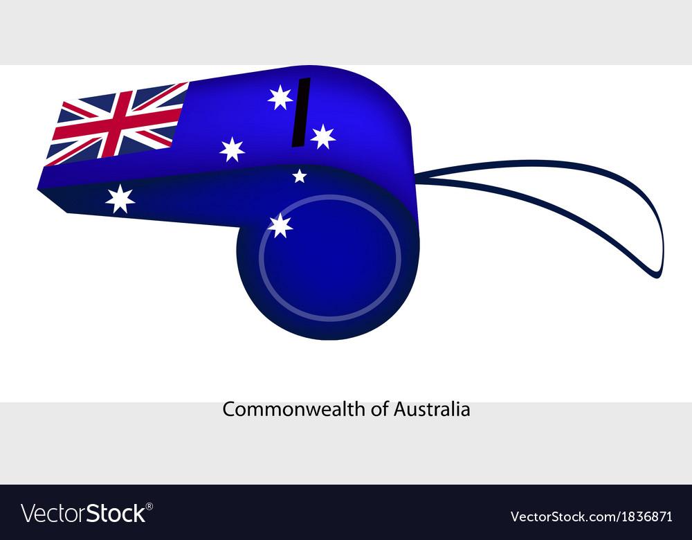 A beautiful blue whistle of australia flag vector | Price: 1 Credit (USD $1)
