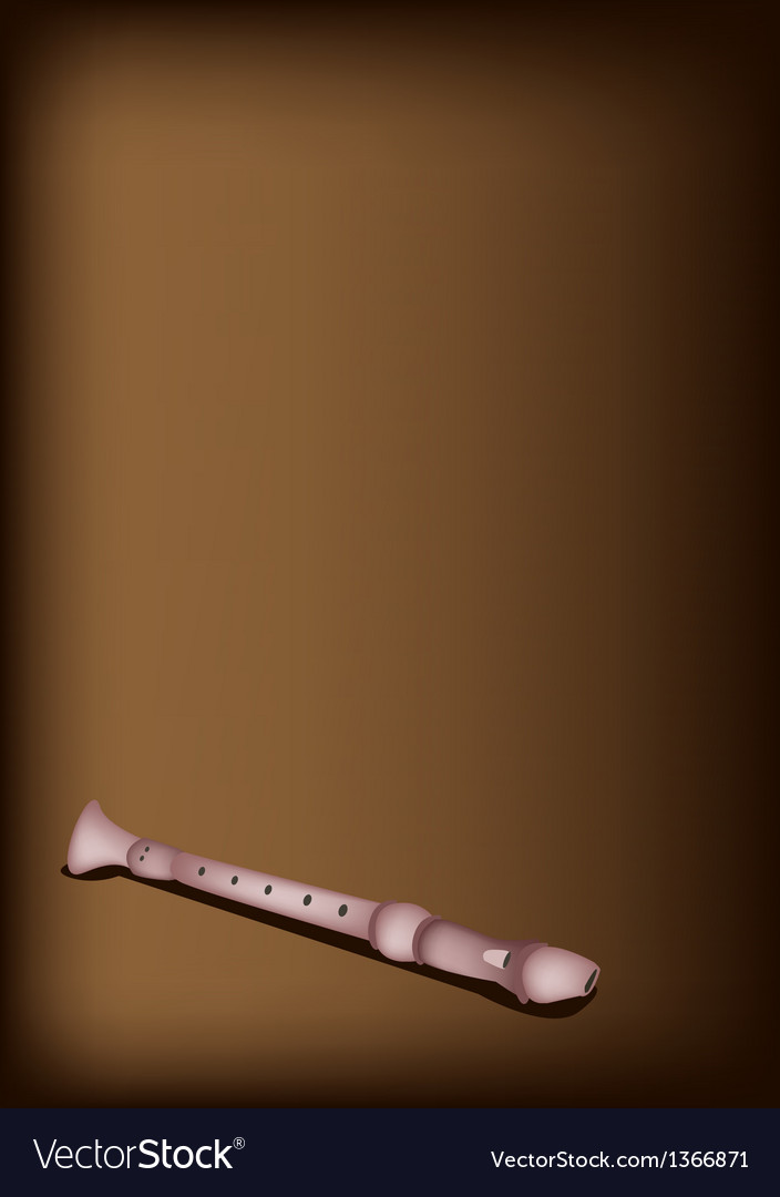 A musical recorder on dark brown background vector | Price: 1 Credit (USD $1)