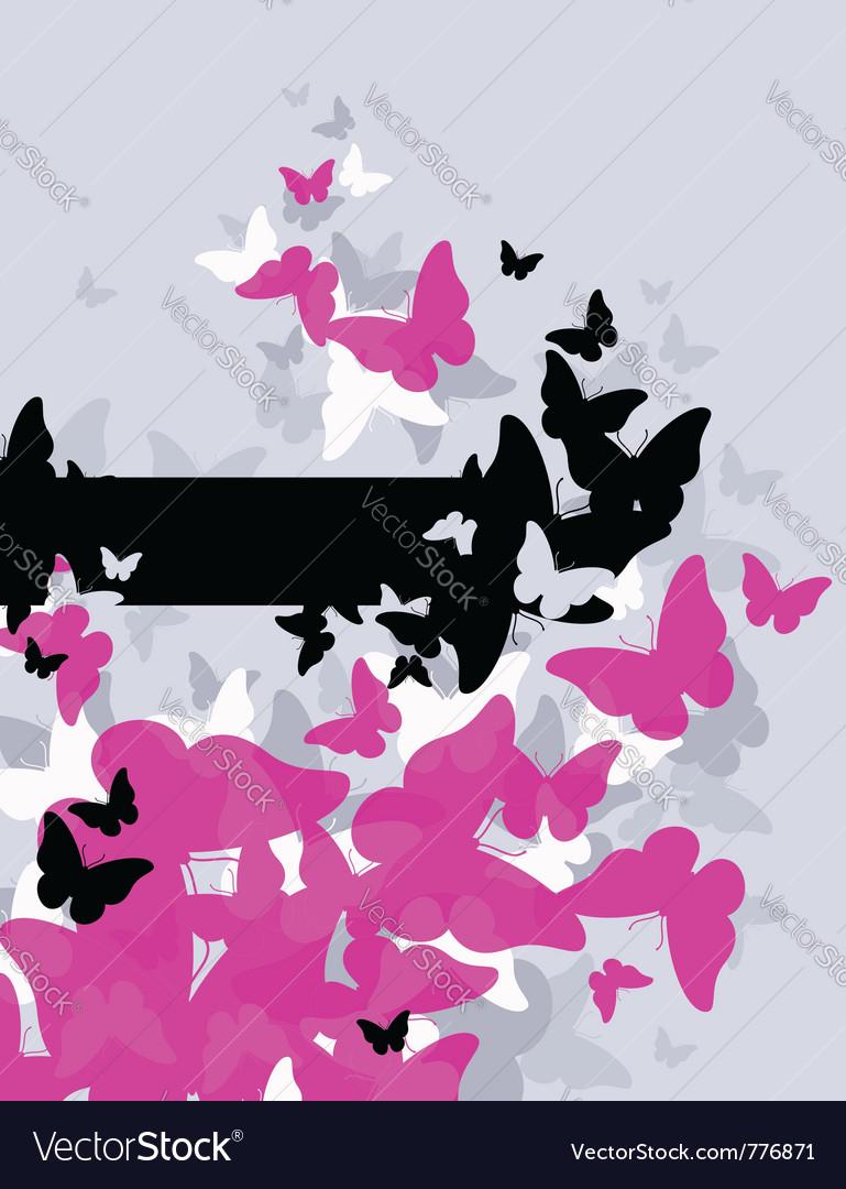 Butterflies - abstract design vector | Price: 1 Credit (USD $1)