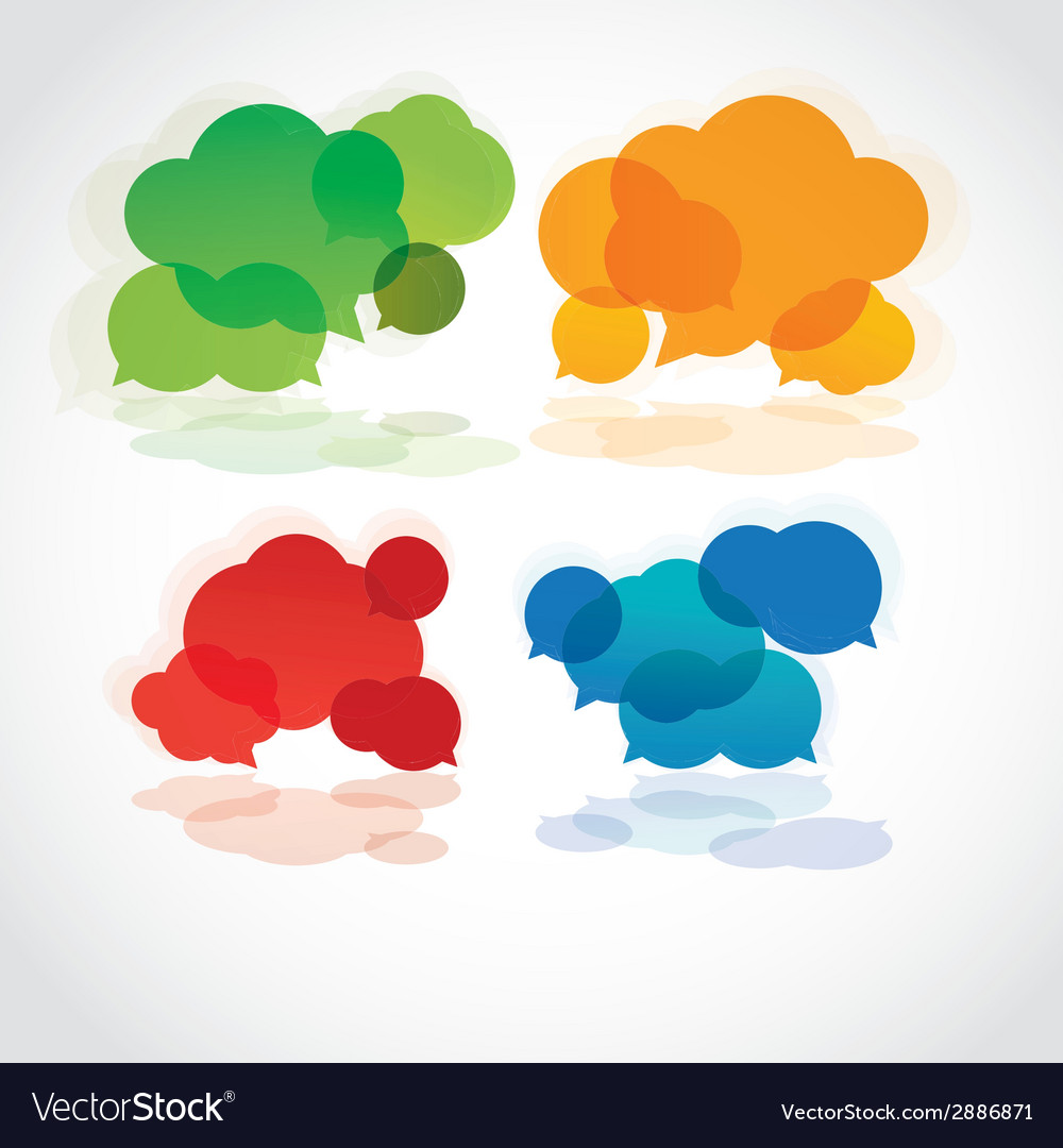 Collection of info speech clouds vector | Price: 1 Credit (USD $1)