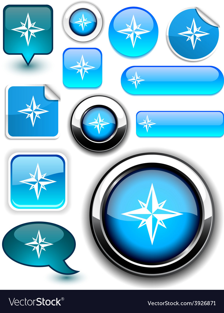 Compass signs vector | Price: 1 Credit (USD $1)