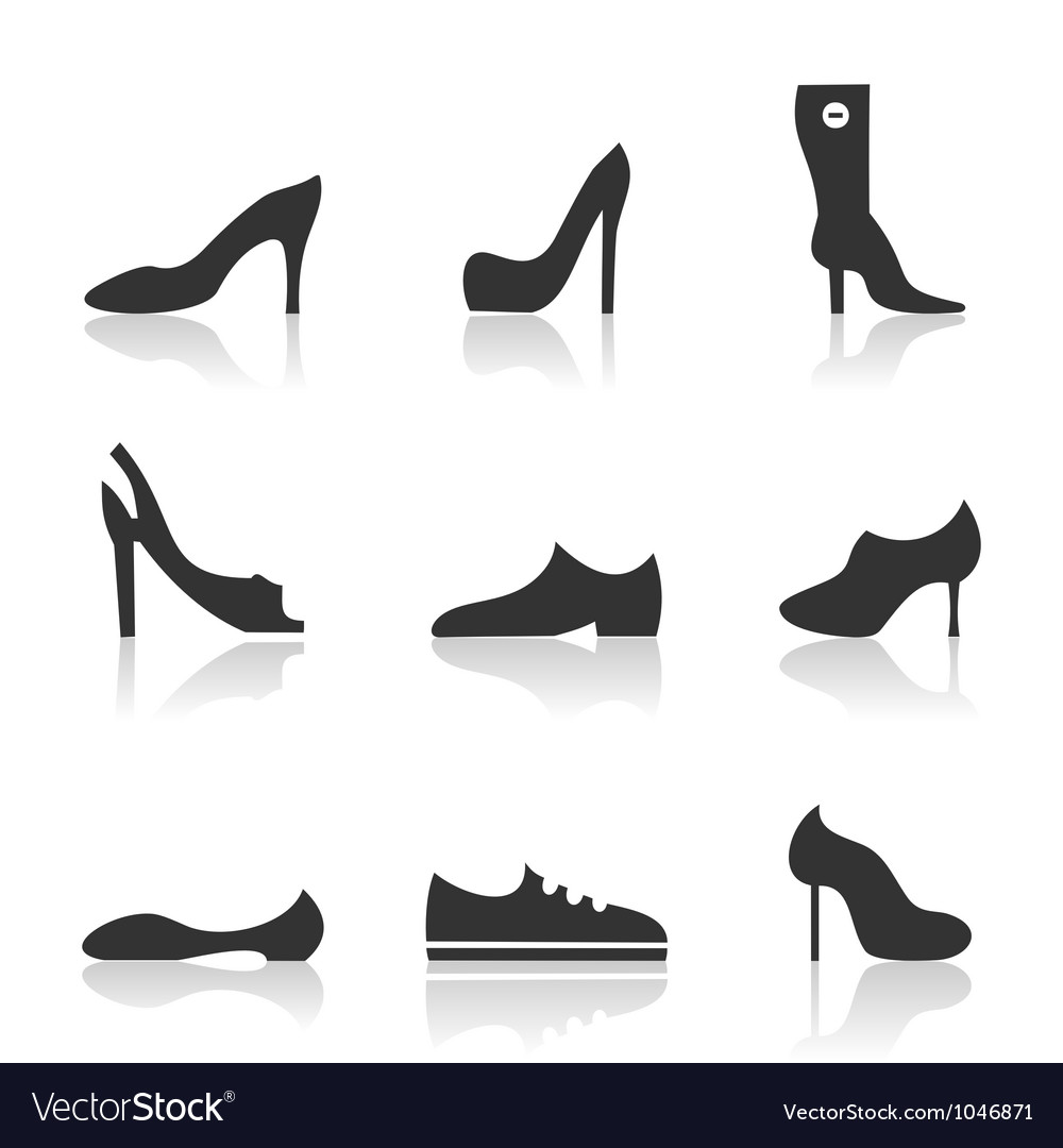 Icon footwear vector | Price: 1 Credit (USD $1)