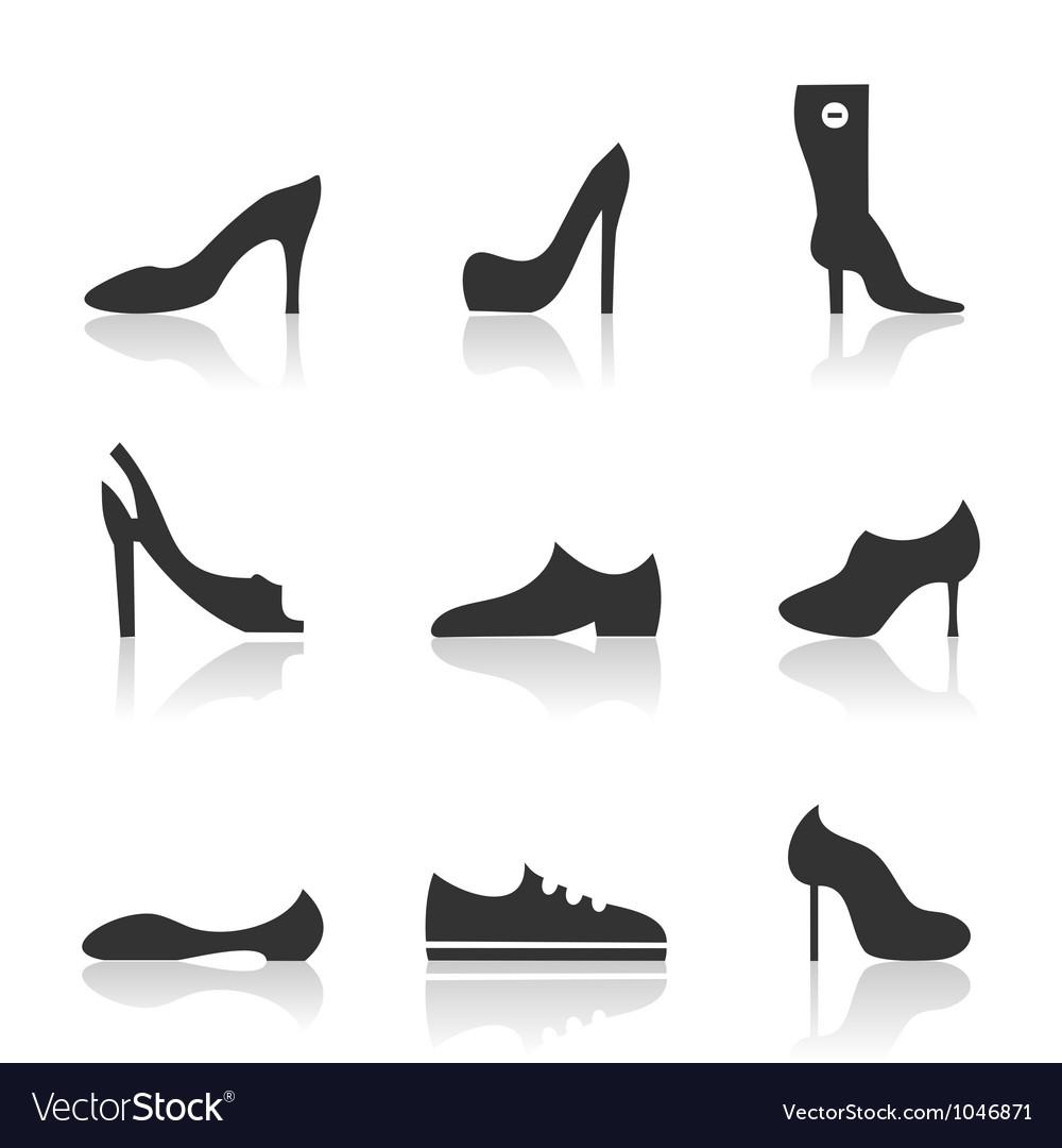 Icon footwear vector | Price: 1 Credit (USD $1)