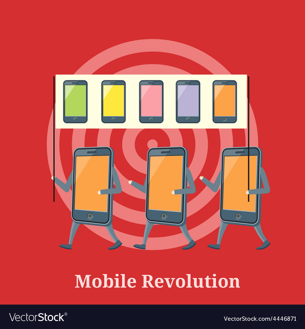 Mobile revolution concept vector | Price: 1 Credit (USD $1)