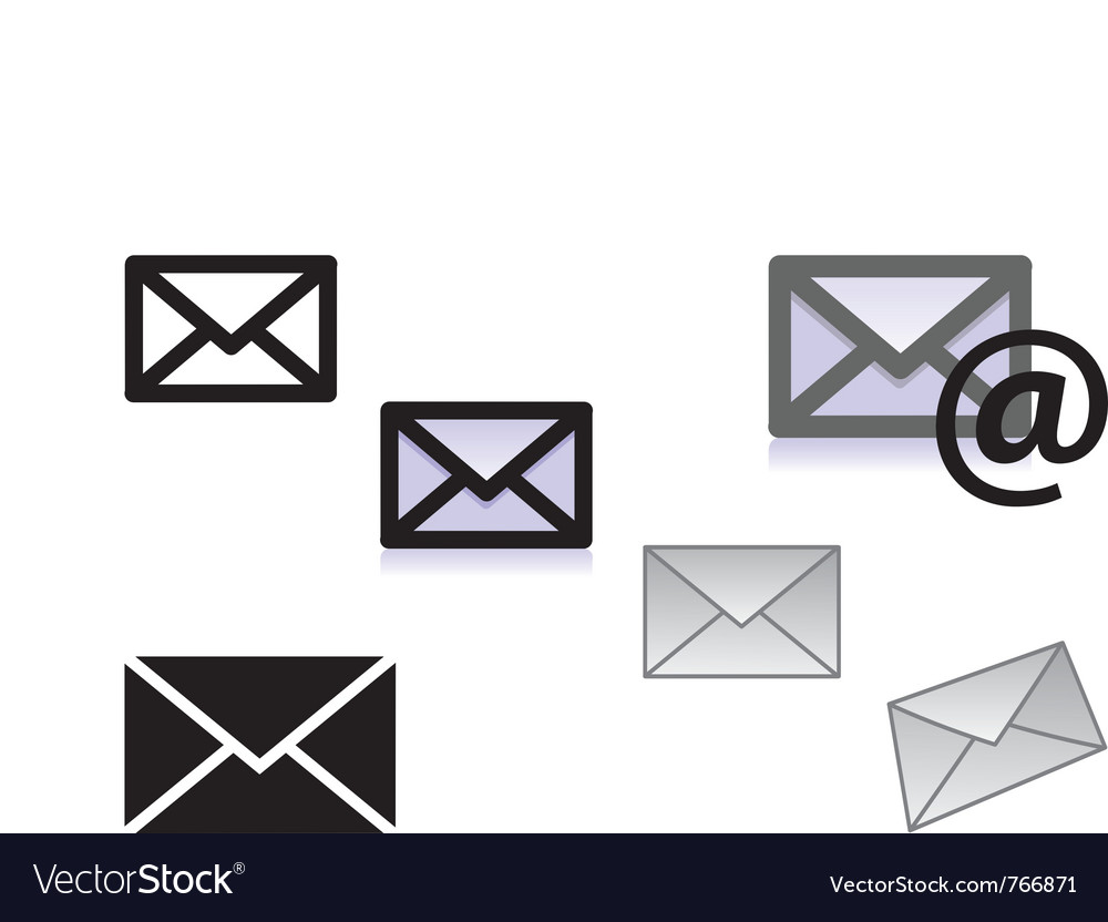 Picture of letter icons vector | Price: 1 Credit (USD $1)