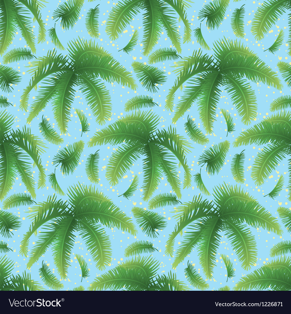 Seamless background palm leaves and sky vector | Price: 1 Credit (USD $1)