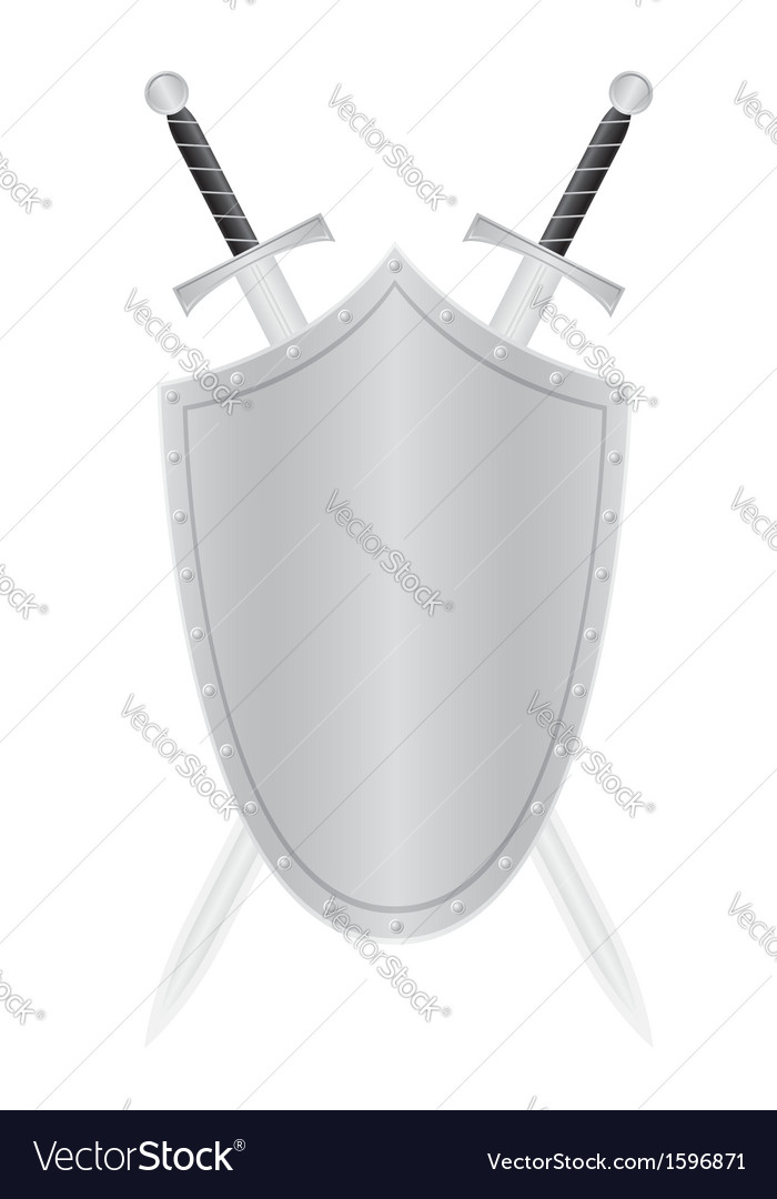 Shield and swords vector | Price: 1 Credit (USD $1)