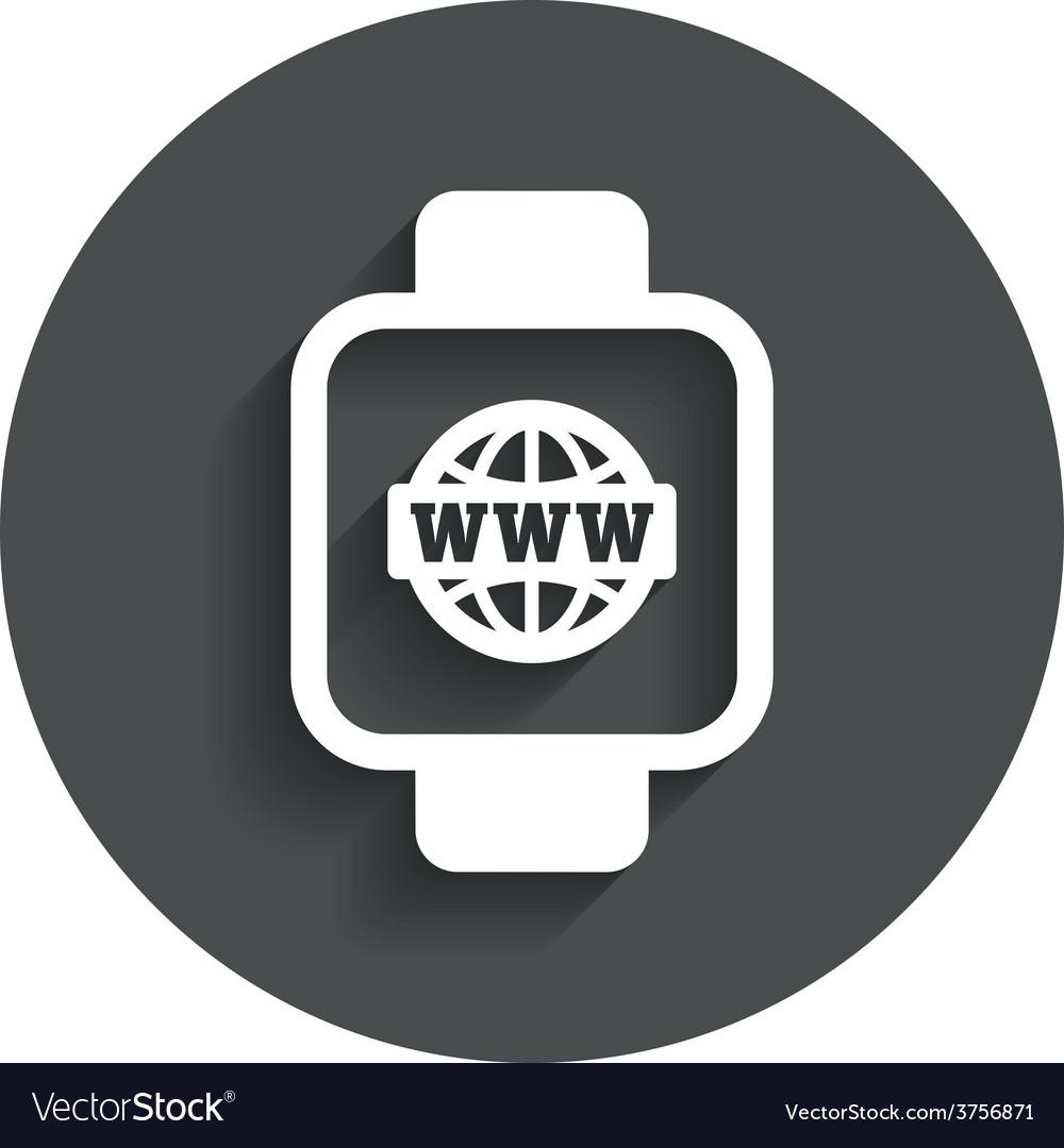 Smart watch sign icon wrist digital watch vector | Price: 1 Credit (USD $1)