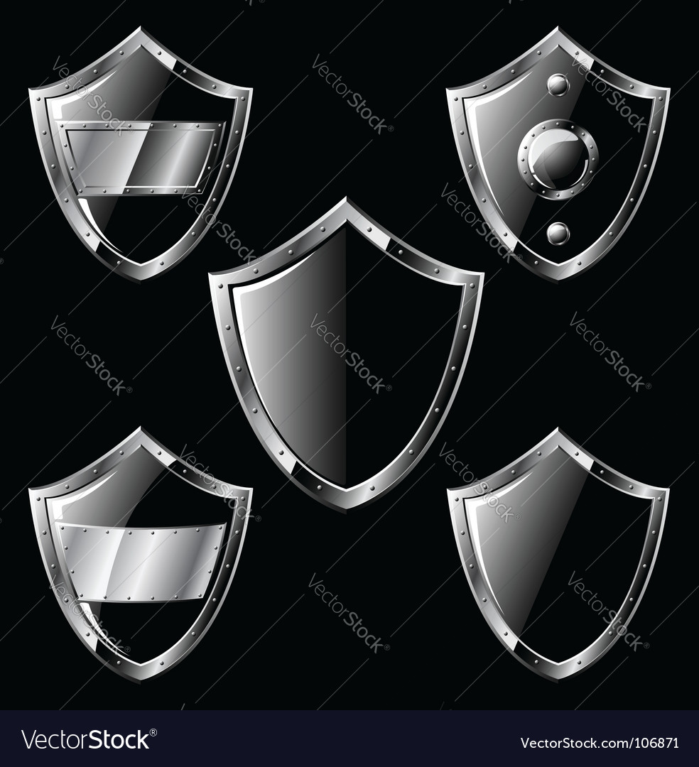 Steel shields vector | Price: 1 Credit (USD $1)