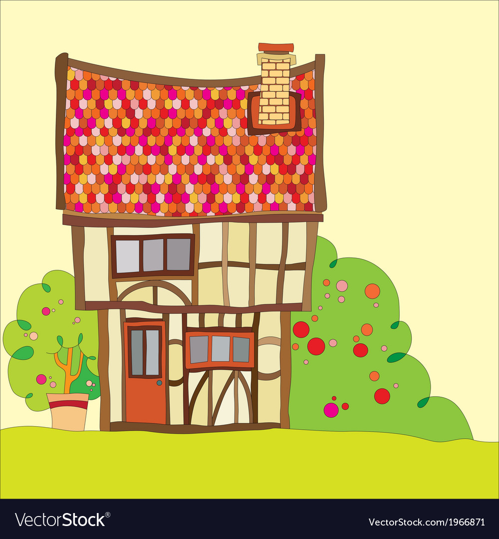 Tudor house vector | Price: 1 Credit (USD $1)
