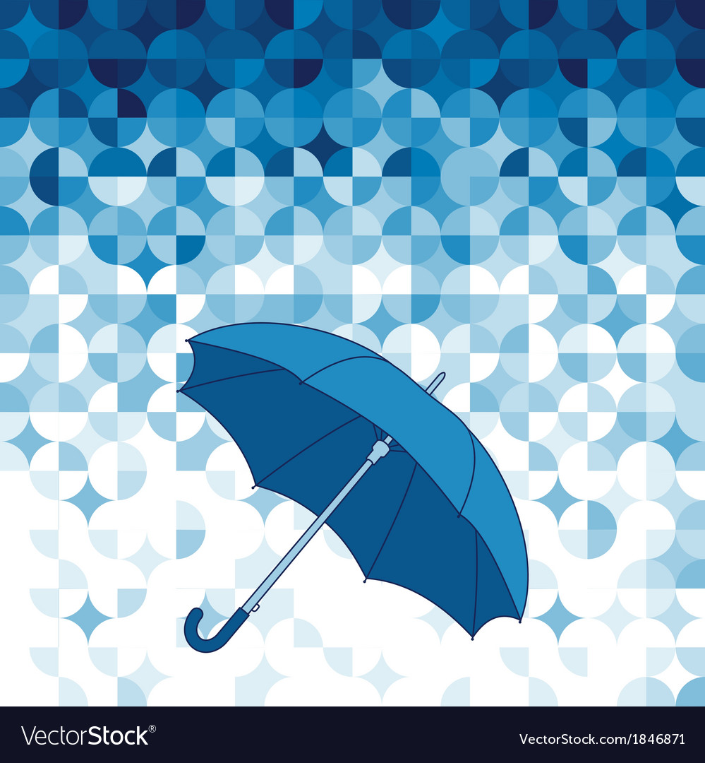 Umbrella on abstract geometric background vector | Price: 1 Credit (USD $1)