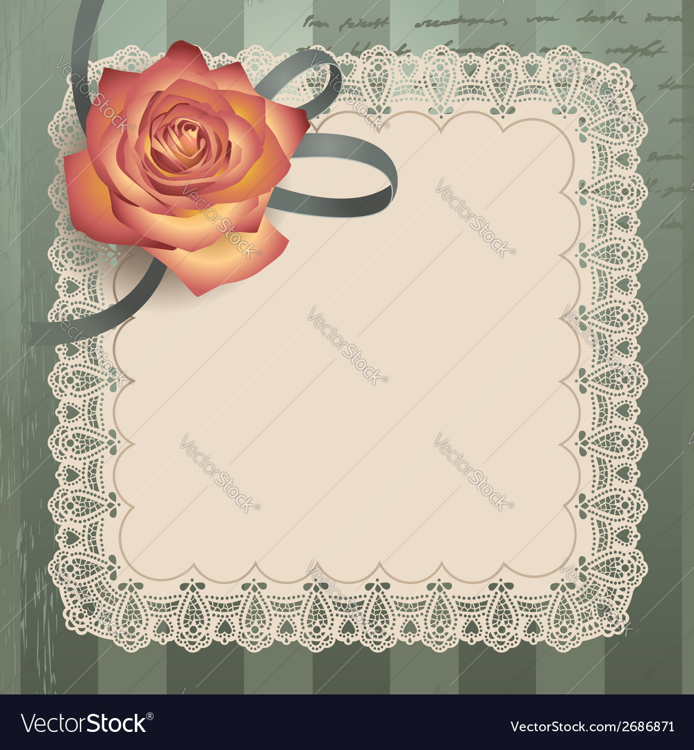 Vintage lace square vector | Price: 1 Credit (USD $1)