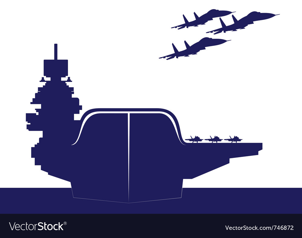 An aircraft carrier vector | Price: 1 Credit (USD $1)