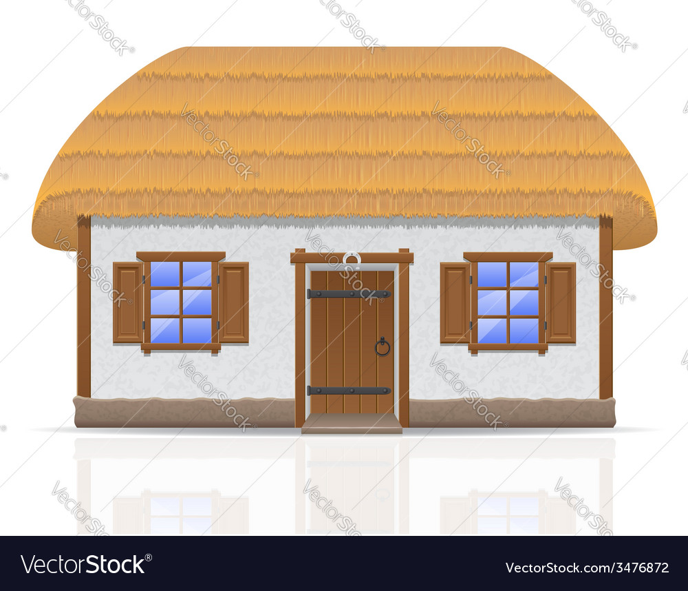 Ancient farmhouse 01 vector | Price: 1 Credit (USD $1)