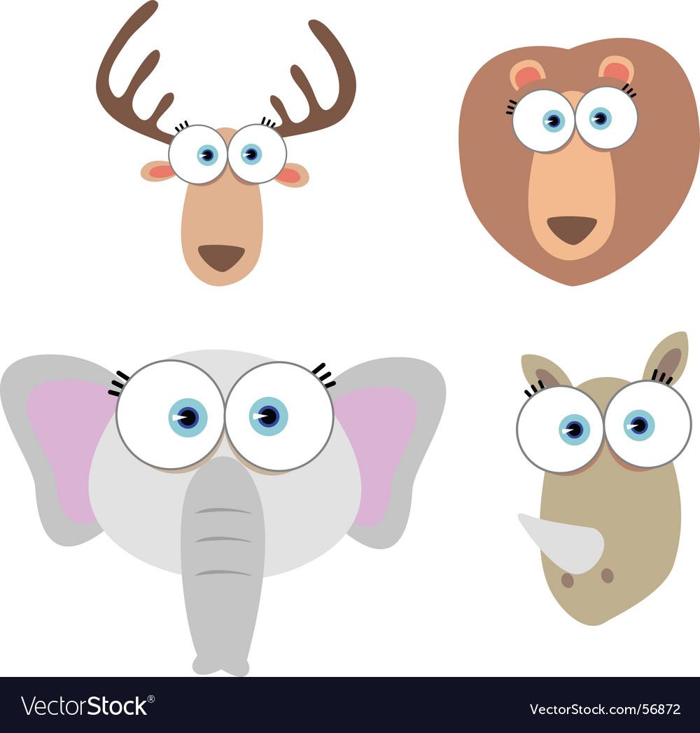 Animal eyes vector | Price: 1 Credit (USD $1)