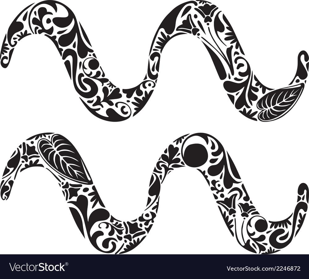 Aquarius zodiac sign vector | Price: 1 Credit (USD $1)