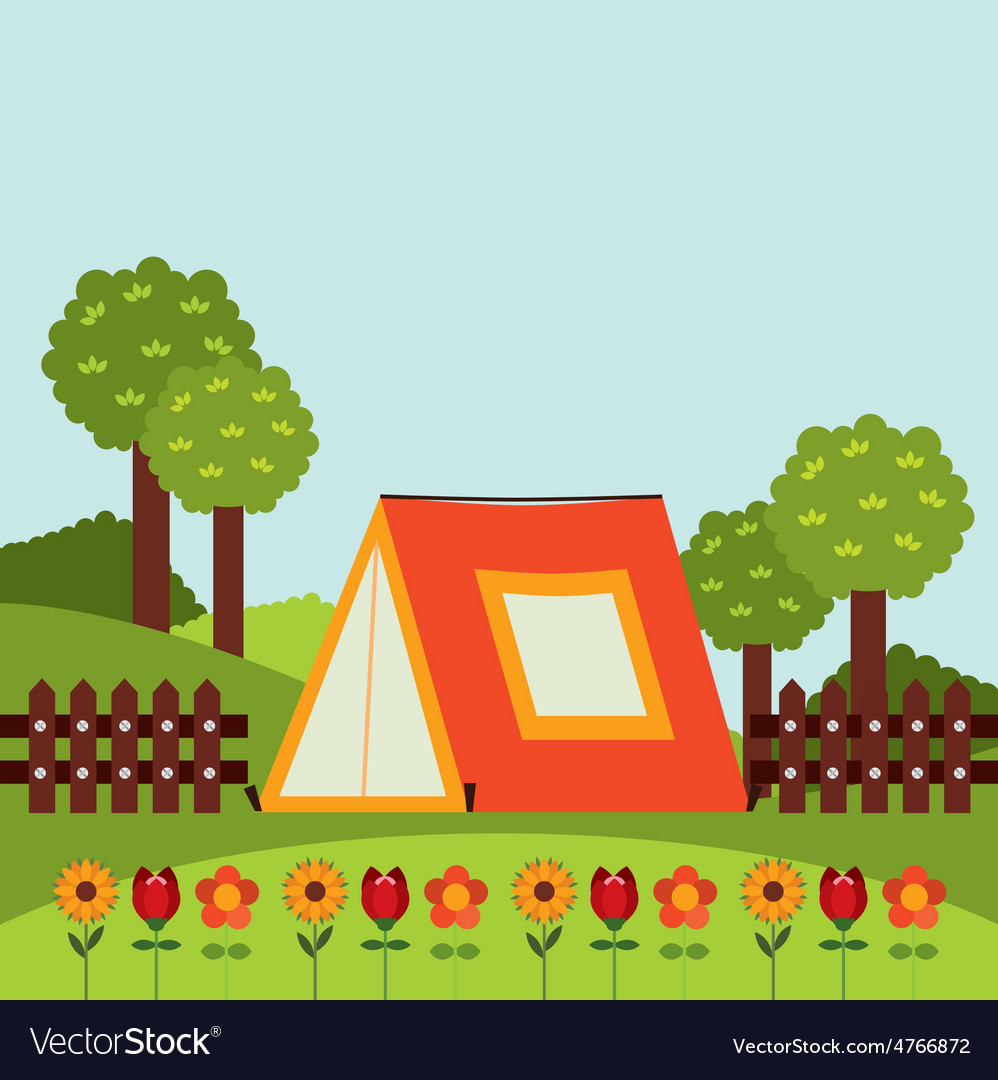 Camping concept vector | Price: 1 Credit (USD $1)