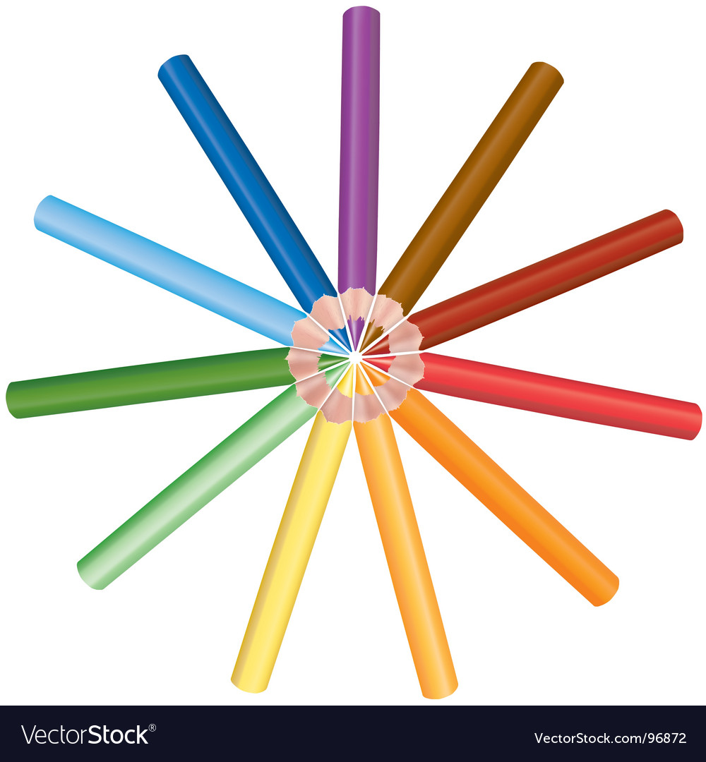 Crayons circle vector   Price: 1 Credit (USD $1)