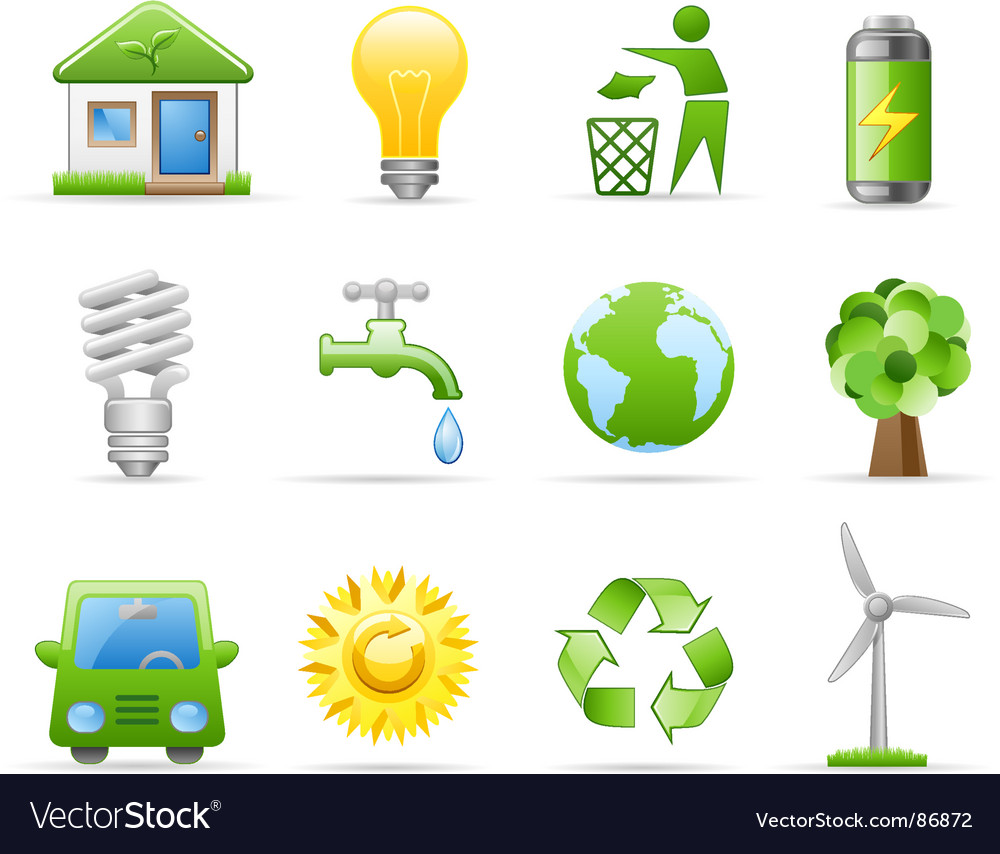 Environment icon set vector | Price: 1 Credit (USD $1)