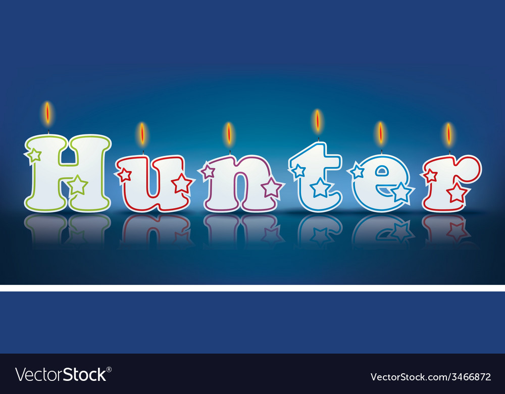 Hunter written with burning candles vector | Price: 1 Credit (USD $1)