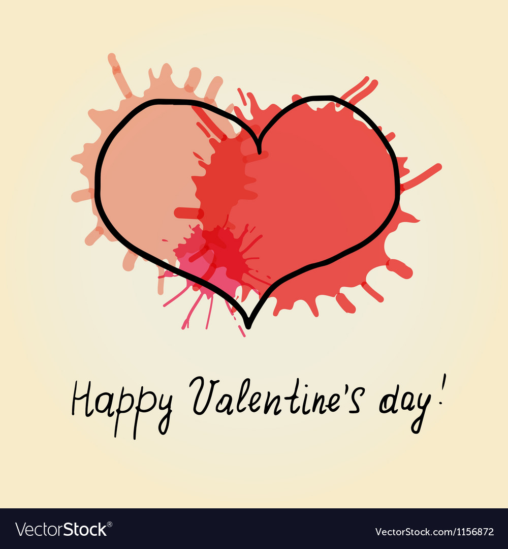Red heart scribble vector | Price: 1 Credit (USD $1)