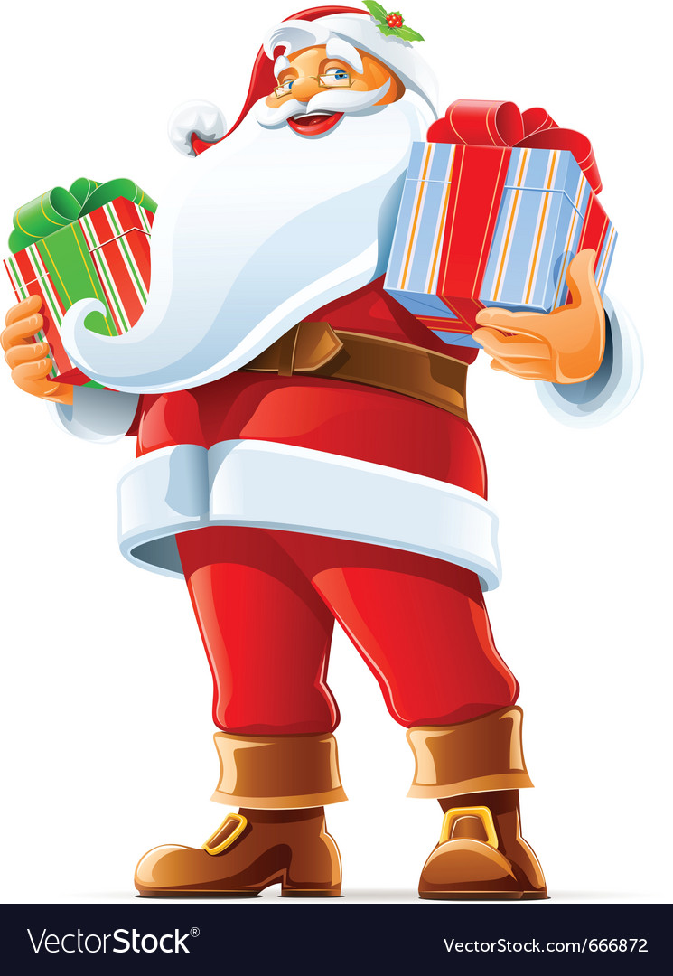 Santa claus with gift vector | Price: 3 Credit (USD $3)