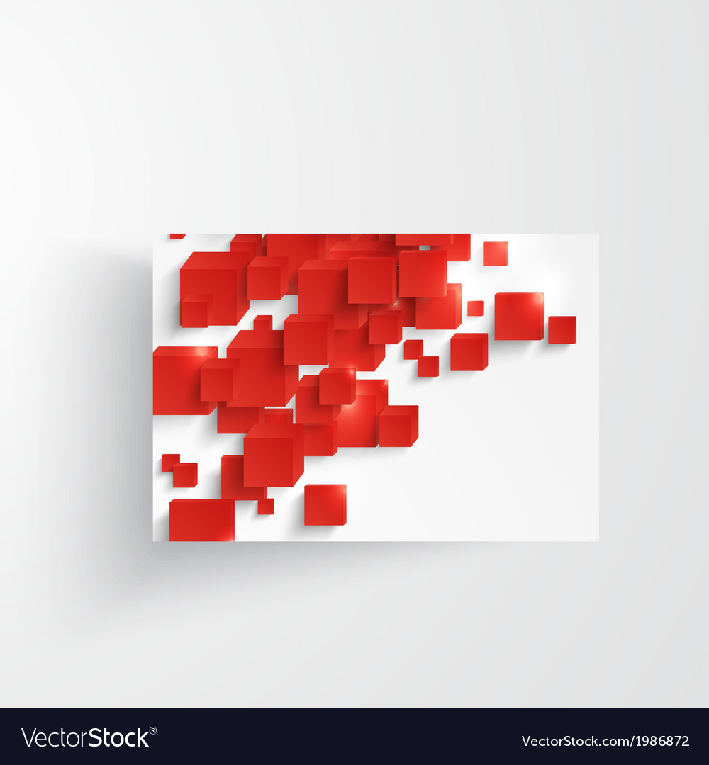 Square abstract background card red vector | Price: 1 Credit (USD $1)