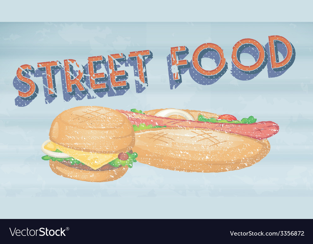 Street food vector | Price: 1 Credit (USD $1)