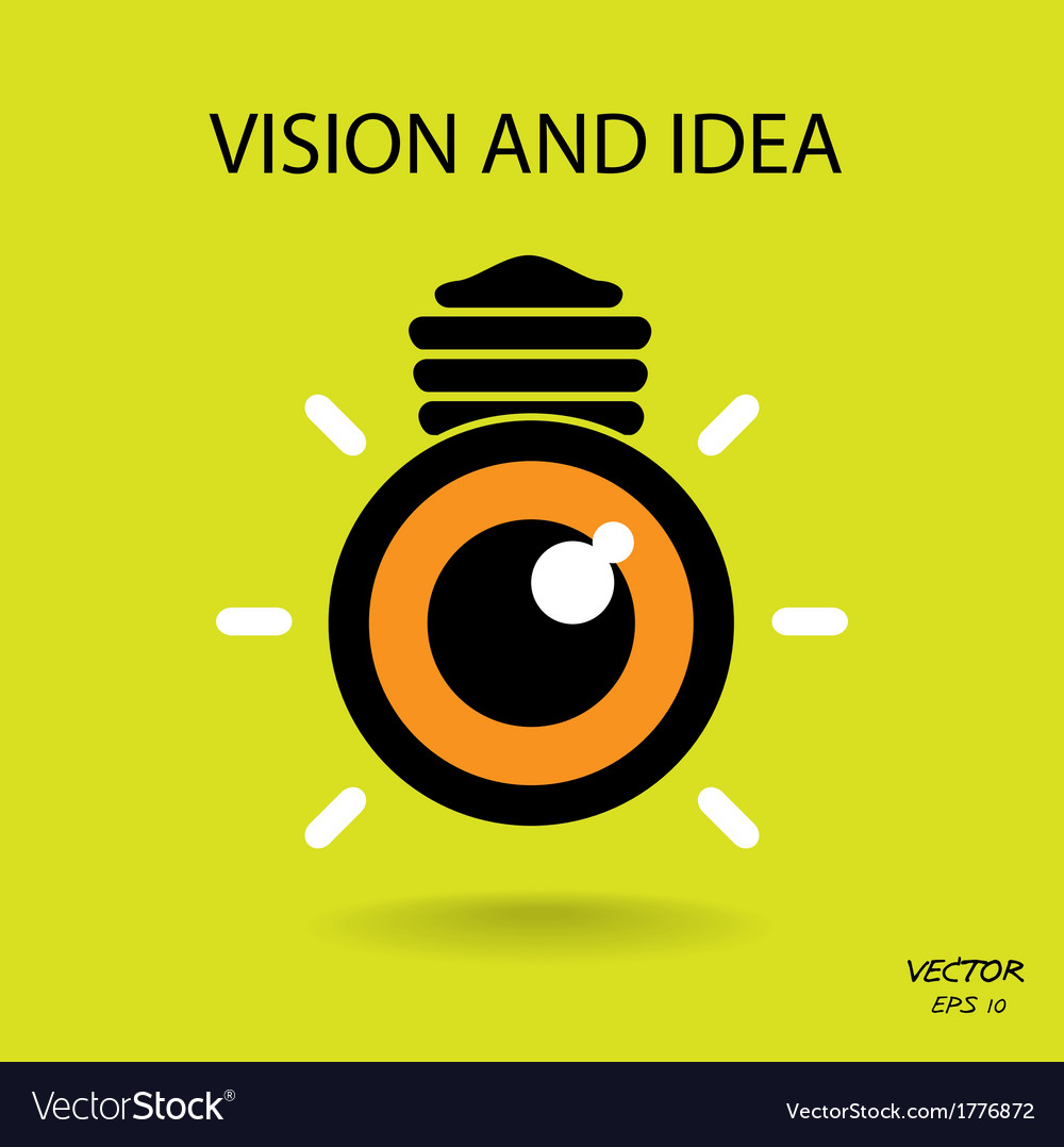 Vision and ideas sign vector | Price: 1 Credit (USD $1)