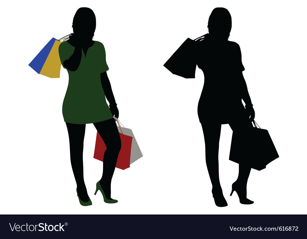 Women shopping vector   Price: 1 Credit (USD $1)