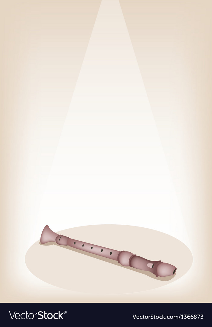 A musical recorder on brown stage background vector   Price: 1 Credit (USD $1)