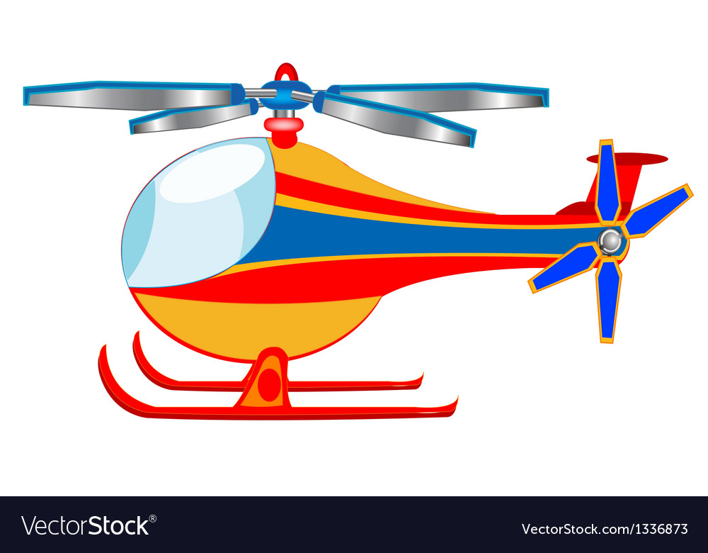The cartoon helicopter vector | Price: 1 Credit (USD $1)