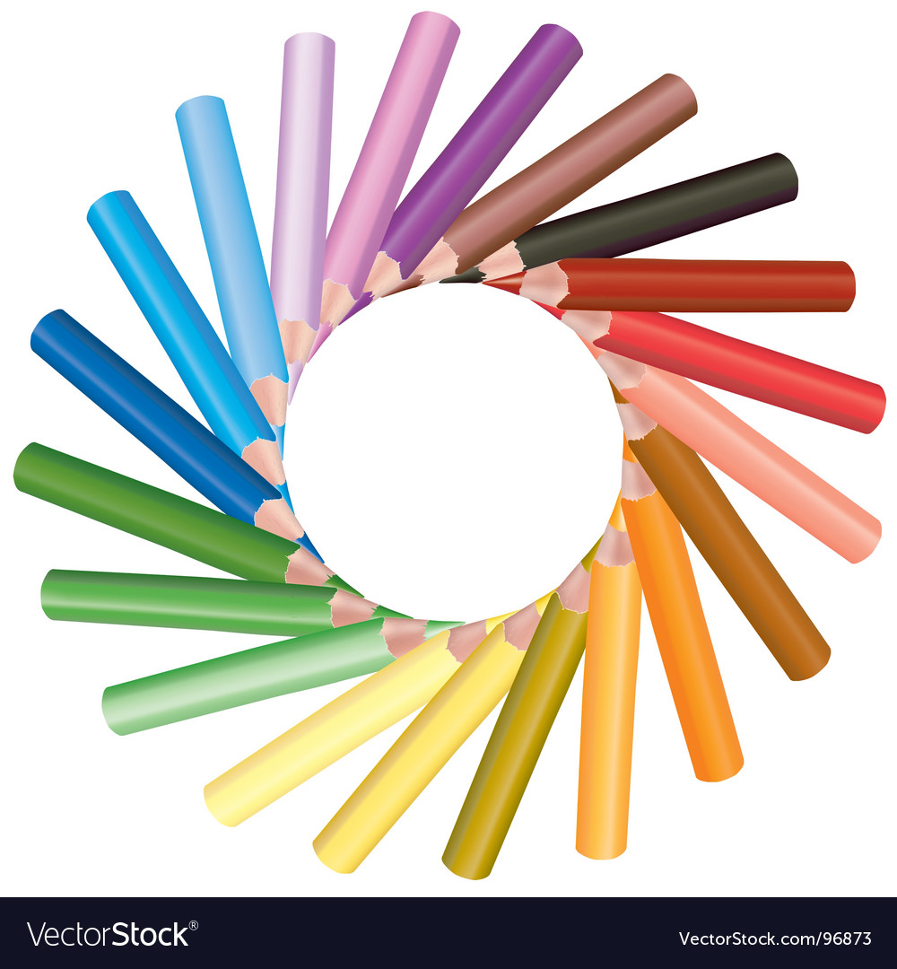 Crayons sun shape vector | Price: 1 Credit (USD $1)