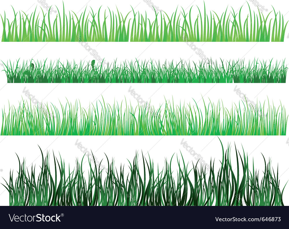 Grass and field elements vector | Price: 1 Credit (USD $1)