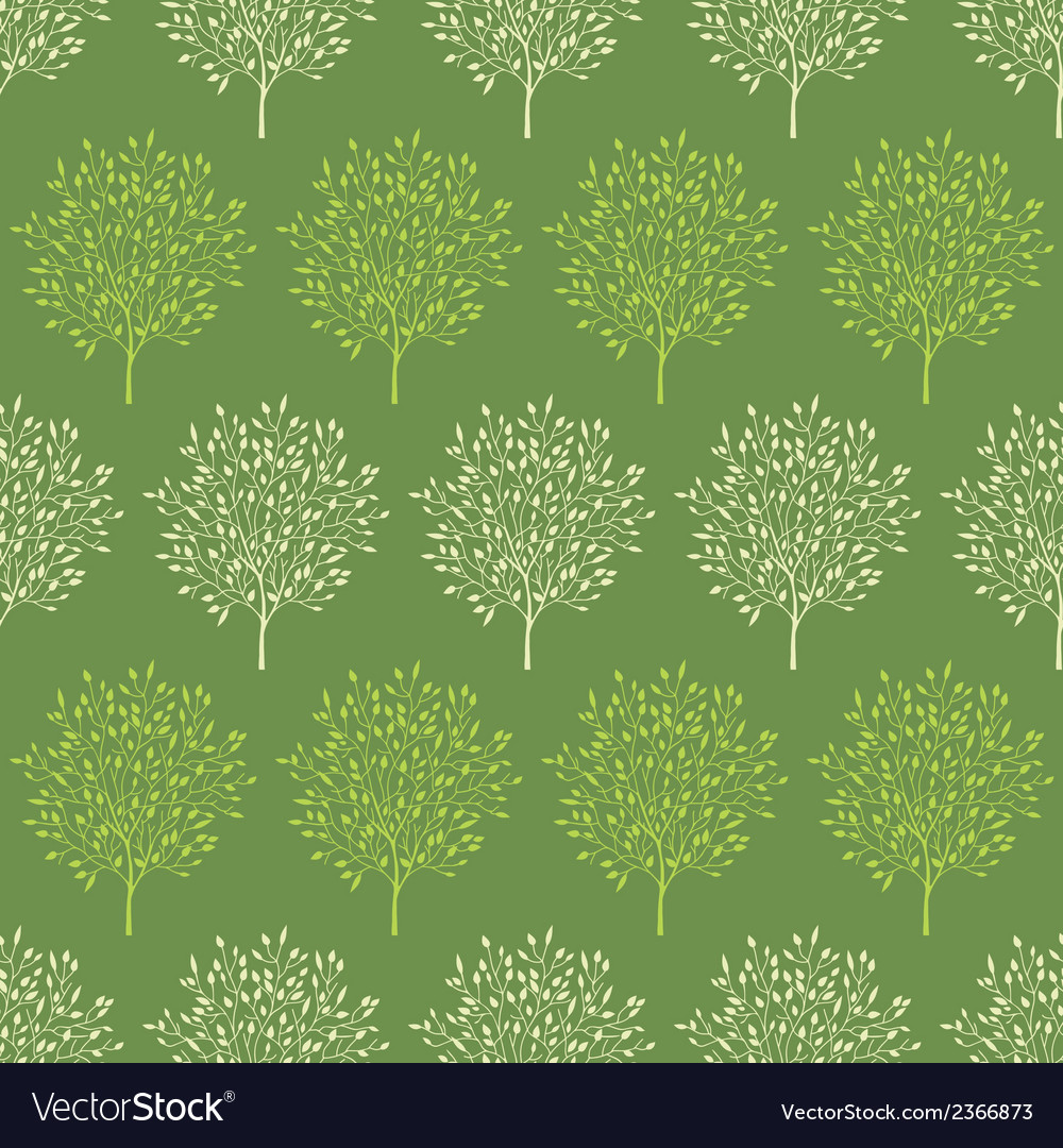 Green trees stripes seamless pattern background vector | Price: 1 Credit (USD $1)