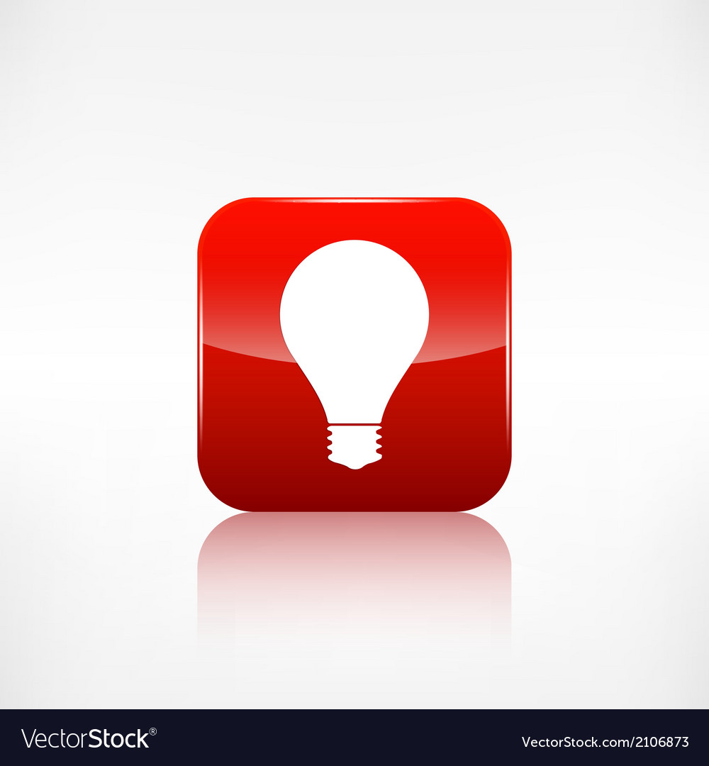 Light bulb icon application button vector | Price: 1 Credit (USD $1)