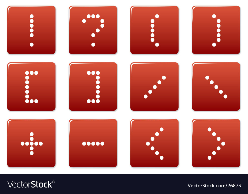 Matrix symbol square icons vector | Price: 1 Credit (USD $1)