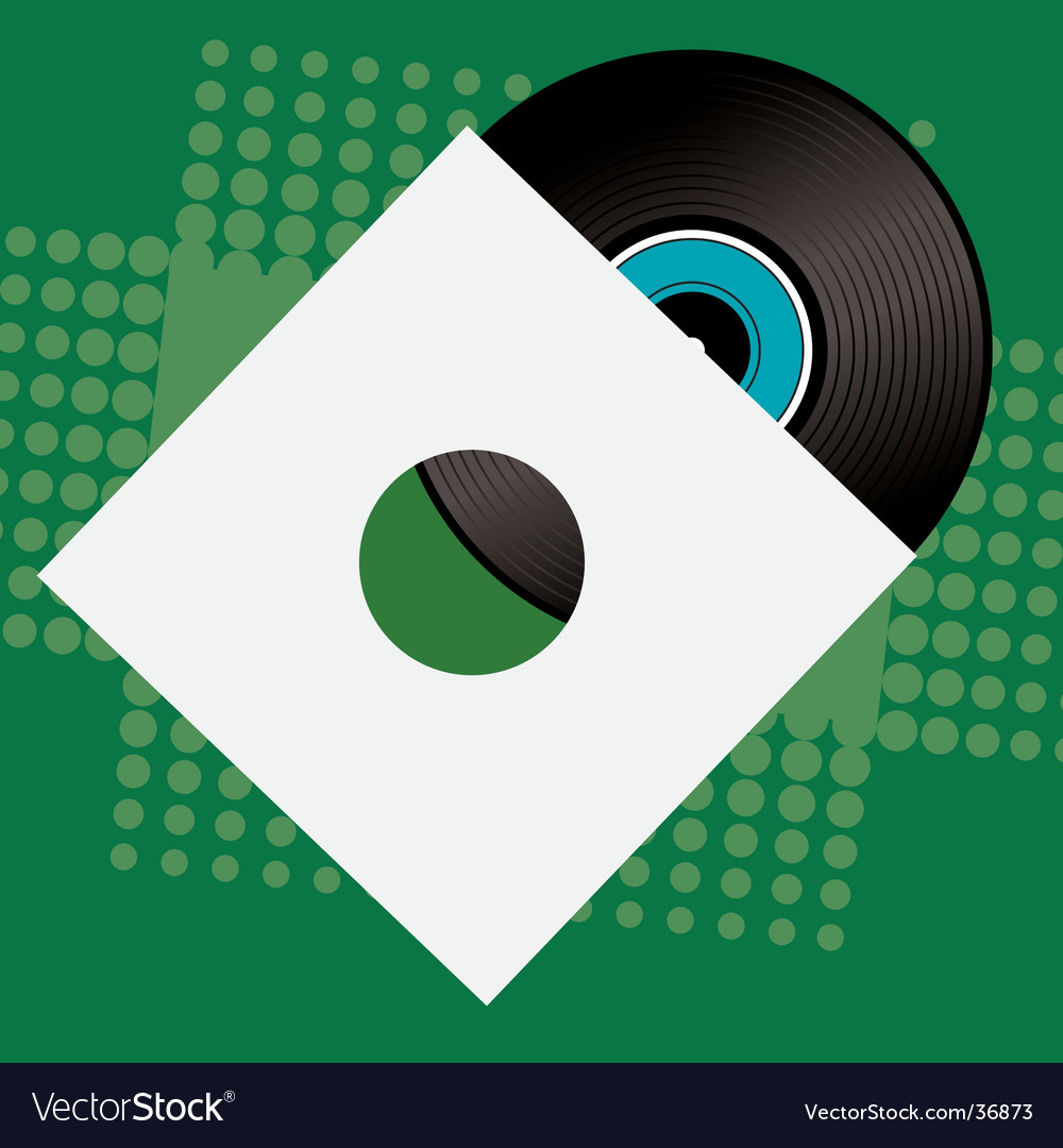 Record sleeve retro vector | Price: 1 Credit (USD $1)