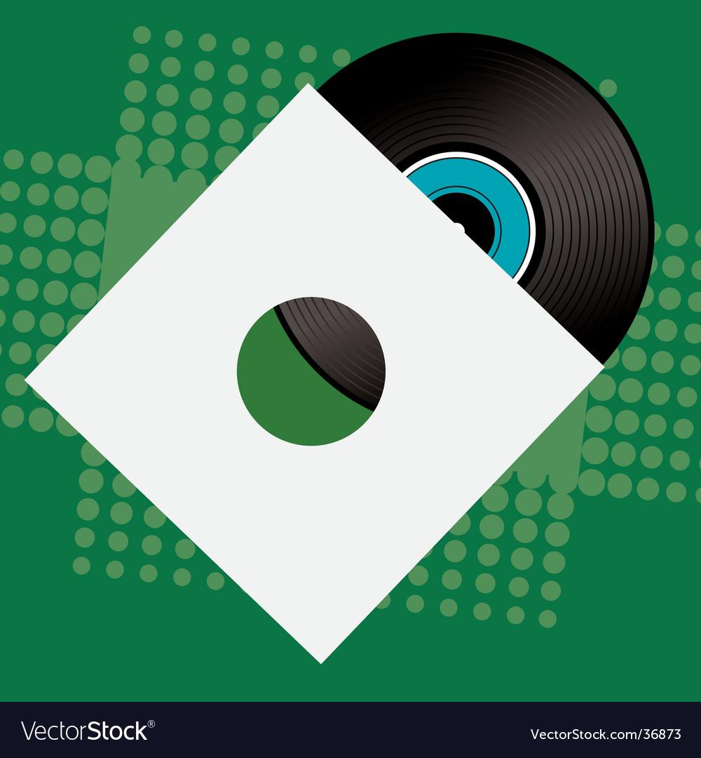 Record sleeve retro vector | Price: 1 Credit (USD $1)