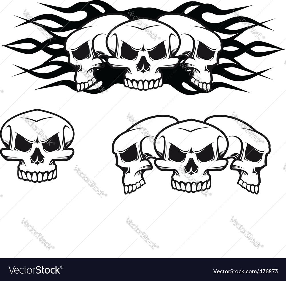 Skulls tattoo vector | Price: 1 Credit (USD $1)