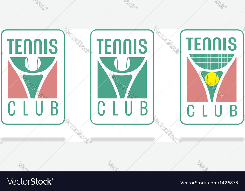 Tennis club logo vector | Price: 1 Credit (USD $1)