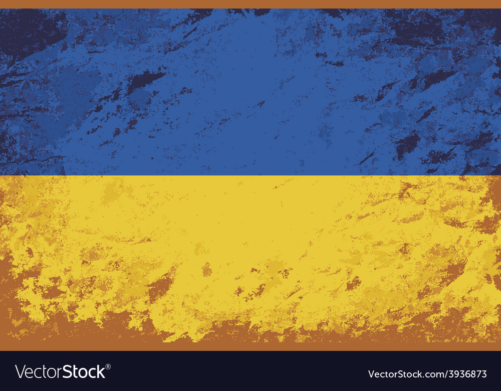 Ukrainian flag grunge background vector | Price: 1 Credit (USD $1)