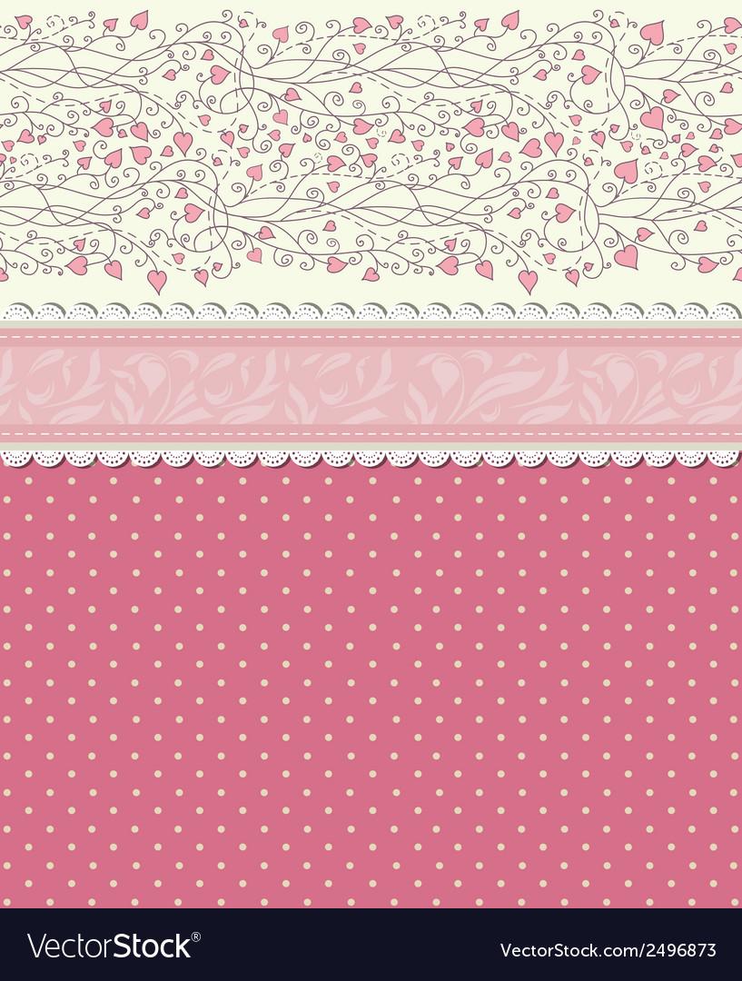 Vintage floral red background vector | Price: 1 Credit (USD $1)