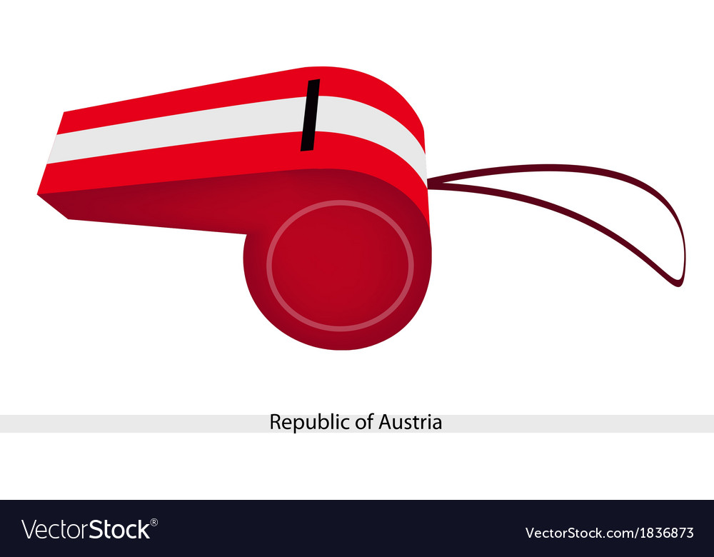 White and red stripe on republic of austria vector | Price: 1 Credit (USD $1)
