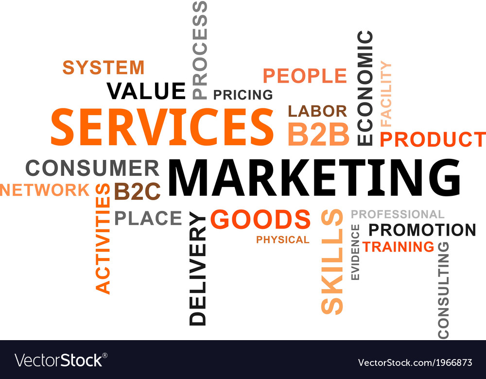 Word cloud services marketing small vector | Price: 1 Credit (USD $1)