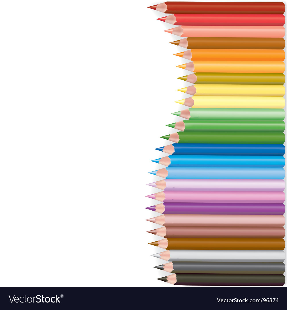 Crayons wave shape vector | Price: 1 Credit (USD $1)