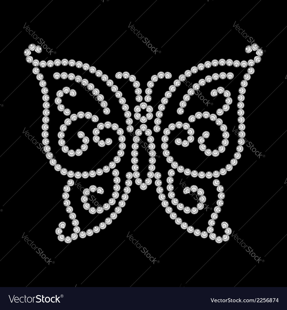 Dotted butterfly vector | Price: 1 Credit (USD $1)