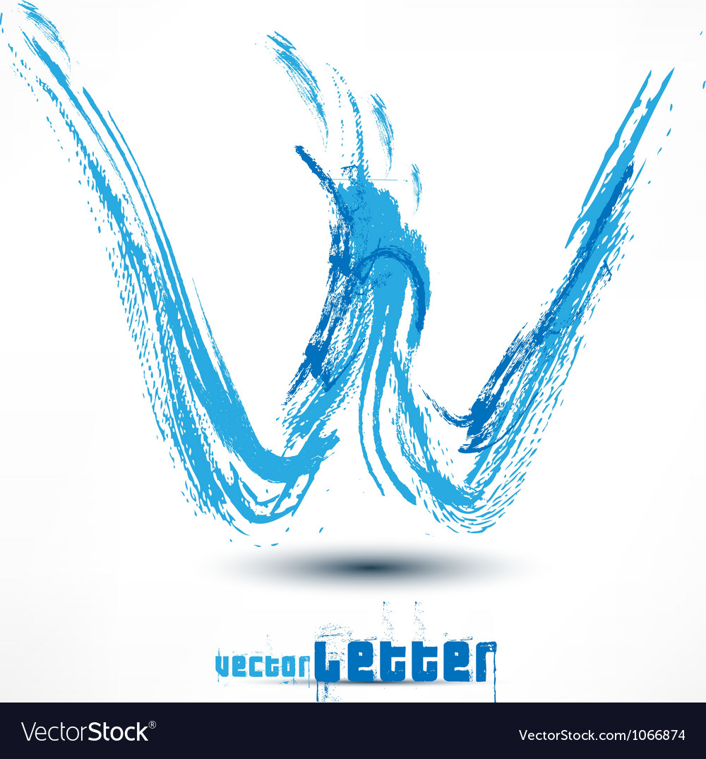 Drawn by hand letter grunge wave vector | Price: 1 Credit (USD $1)